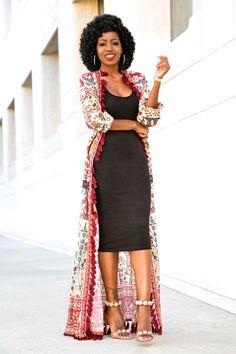 Printed Wrap Maxi Dress + Tank Midi Dress