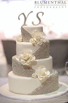 Although it has inedible rhinestones, they're easily removable, and the rest of the decorations are actually candies. The monogram letters are placed poorly, but it's still a beautiful idea.(Blumenthal Photography)