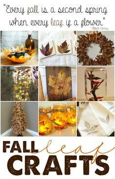 I love all of these creative ways I can use fall leaves.