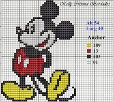 Delicate Corner: Charts Cross Stitch Michey and Minnie Read More at: home-diys.blogspot.com