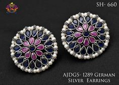 German Silver Earrings AJDGS1289
