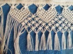 Arte em Macramê e Crochê: Passo a Passo barrado em macramë:
