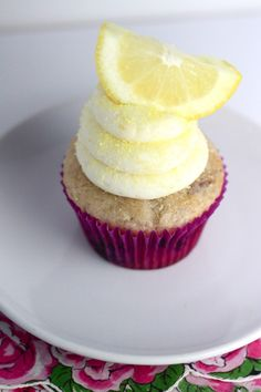 Blueberry Lemon Cupcake
