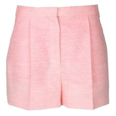 Stella Mccartney Warwick Shorts (370 CAD) ❤ liked on Polyvore featuring shorts, bottoms, short, bubble gum, short shorts, stella mccartney shorts, stella mccartney, rayon shorts and tailored shorts