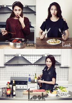miss A's Fei looks good while cooking for '1st Look'
