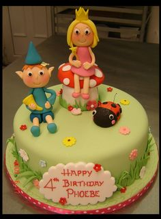 Ben & Holly cake ideas Ben And Holly Cake, Ben Y Holly, Birthday Cake Girls, 3rd Birthday, Birthday Cakes, Jungle Theme Cakes, Single Tier Cake, Movie Cakes, Jumping Clay