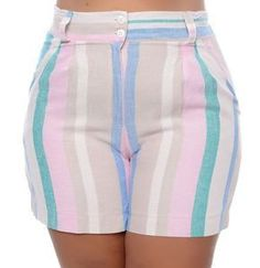 Shorts de Linho Plus Size Tania – Zahra 2019 trends at Diyanu Casual Work Outfits, Short Outfits, Cute Outfits, Plus Size Womens Clothing, Plus Size Fashion, Clothes For Women, African Fashion Dresses, Fashion Outfits, Full Figured Women