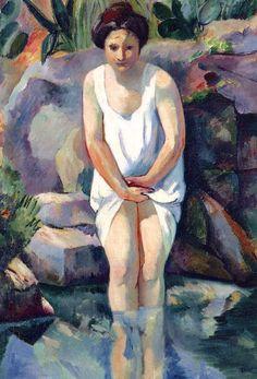 Baigneuse à Cassis, Jeanne, 1912 Henri Manguin