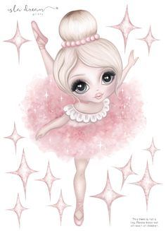 Bella the Ballerina Fabric Wall Decals – Isla Dream Prints Ballerina Art, Foto Transfer, Wall Drawing, Kids Wall Decals, Drawing For Kids, Children Drawing, Coloring Pages For Kids, Kids Coloring, Cute Drawings