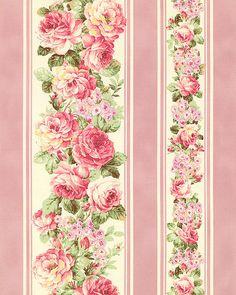 Japanese Import - Prima Blushing Rose Stripe - Deep Pink