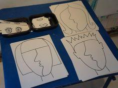 25-Deel je gezicht op in verschillende delen en zaag ze uit in triplex
