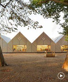this school in perthes-en-gâtinais comprises multiple gabled wooden volumes Architecture Design, Pavilion Architecture, Vernacular Architecture, Education Architecture, Sustainable Architecture, Residential Architecture, Contemporary Architecture, Landscape Architecture, Rustic Contemporary