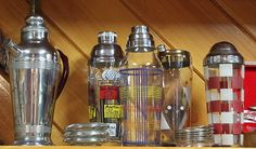 I just love old martini shakers!