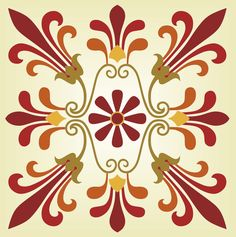 Greek marquetry ornament pattern