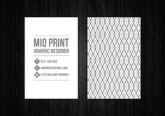 Unique Printable Business Card Design by MioPrint, €21.95