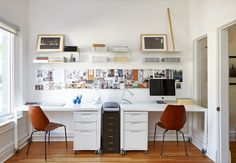 14 Office Organization At Work, Organization Ideas, Messy Desk, Bookshelf Desk, Modern Desk, Desk With Drawers, Tidy Up, Staying Organized, Home And Family
