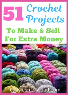 diy and crafts Popular, in demand and best selling crochet crafts to make and sell at craft fairs or on Etsy so you can make a living crocheting. DIY easy crochet ideas to sell online in Crochet Crafts To Make And Sell, Crochet Projects To Sell, Easy Knitting Projects, Diy And Crafts Sewing, Easy Diy Crafts, Diy Crafts To Sell, Decor Crafts, Selling Crafts, Crafts With Yarn
