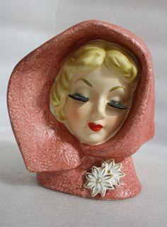 Vintage Japan Ceramic Gorgeous Lady Head Vase Original | eBay