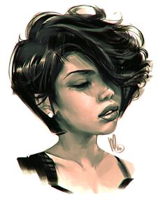 melmade the blog (the one I update ): Messy Photoshop Head Sketching