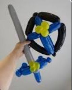 Balloon art shield. Balloon art sword