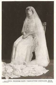 Mary,, the Princess Royal,in her wedding dress..