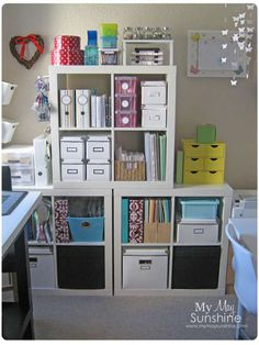 idea for small spaces...love all the organized storage!