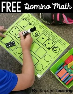 Task Shakti - A Earn Get Problem Free Domino Math. Utilizing Dominoes Is A Great Way To Teach Addition. Kindergarten Math Activities, Preschool Math, Math Classroom, Bubble Activities, Number Sense Kindergarten, Math For Kids, Fun Math, Printables Organizational, Math Writing