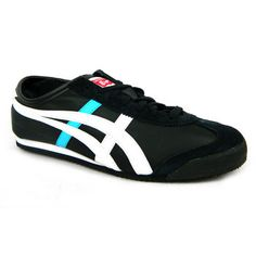 onitsuka tiger mexico 66 baja white/blue leather trainers