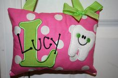 Tooth Fairy Pillow for Girls Personalized.