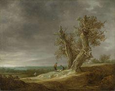Landscape met twee eiken, Jan van Goyen, 1641 #tree #art