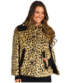 Juicy Couture Cheetah Faux Fur Cape from Zappos.com via http://pinpointing.apps.zappos.com