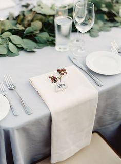 Matchless arraigned California wedding locations More Info Wedding Locations California, California Wedding, Grey Tablecloths, White Napkins, White Linens, Wedding Place Settings, Beautiful Calligraphy, Beautiful Table Settings, Wedding Places