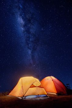 Camping under the clear skies on top of Rinjani mountain - Indonesia