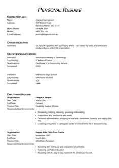 High School Resume Samples Resume Templates And Examples Sample