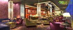 interior decorations of Restaurant Design Studio Bangkok 3d Interior Design, Commercial Interior Design, Commercial Interiors, Interior Decorating, 3d Home, Design Firms, Restaurant Design, 3 D, Unique Cafe