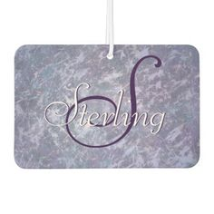 Feisty Auto | Name Lavender Purple Splatter | Chic Car Air Freshener - modern gifts cyo gift ideas personalize