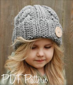Tricot PATTERN-The Beckett Hat bébé enfant par Thevelvetacorn