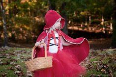 Halloween costume mini | Little Red Riding Hood | child photographer | Fall