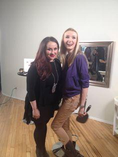 Lijha Stewart preparing to transform blogger Urbanette into her style icon! #makeupforevericons