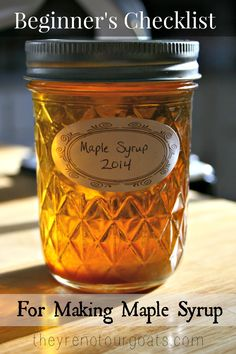 Beginner's Checklist for Making Maple Syrup - They're Not Our Goats Beginner's Checklist for Making Maple Syrup- It's not as expensive an investment as you think! Maple Syrup Taps, Homemade Maple Syrup, Maple Syrup Recipes, Sugaring, Maple Tree, Hobby Farms, Preserving Food, Canning Recipes, Food Storage
