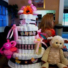 Baby Girl Diaper Cake!