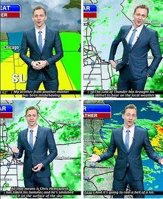Tom Hiddleston/Loki tells the weather