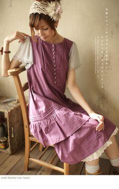 mori girl purple