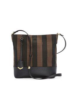 Pequin Striped Bucket Bag, Brown by Fendi at Bergdorf Goodman.