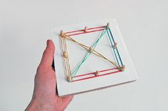 pegs and rubberbands, simple toys for kids