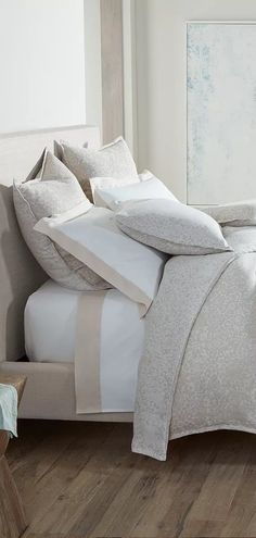 The world of designer luxury bedding and bath is at hand. Luxury Bedding Collections, Luxury Bedding Sets, Bed Design, Home Furniture, Duvet Covers, Master Bedroom, Peacock, Interior Design, Home Decor