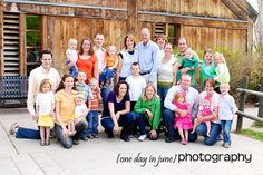 Large Family photo - looks like each family got their own color...without being overly noticeable.