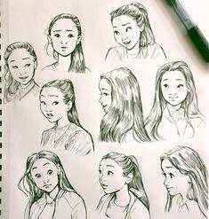 "Bev Johnson on ""Lara Jean Lara Jean, Pretty Art, Cute Art, Character Drawing, Character Design, Art Sketches, Art Drawings, Jeans Drawing, Drawing Expressions"