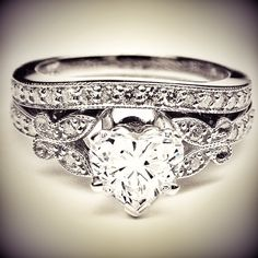 platinum diamond butterfly wedding ring engagement set ADLR141S