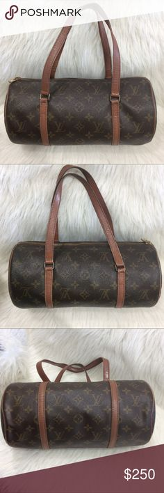Authentic Louis Vuitton Papillon bag This is an authentic Louis Vuitton Papillon 30. Could also be used as shoulder bag. The outside shows wear with rubbing mostly on piping and straps as shown in pictures. Some tarnish on metal parts. Code: TH1902. Offers are welcome Louis Vuitton Bags Satchels